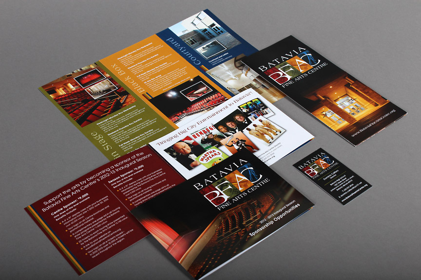 Batavia Fine Arts Centre Marketing Materials